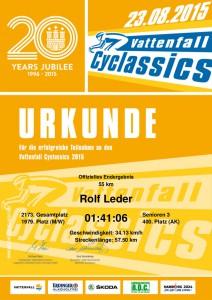 Urkunde Cyclassics 2015